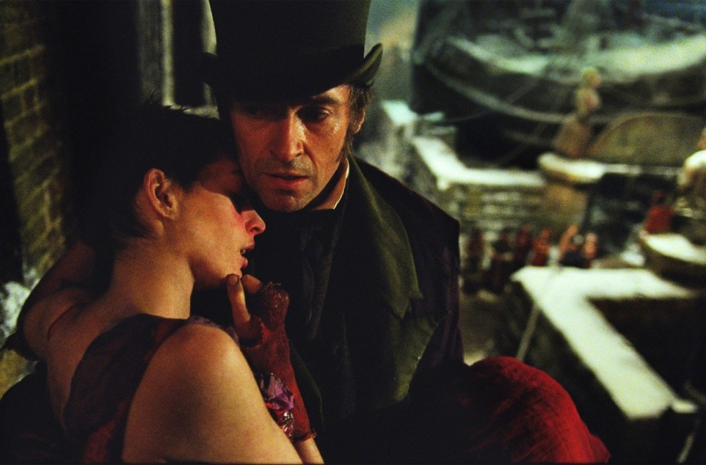 Hugh Jackman, as Jean Valjean, and Anne Hathaway, as Fantine, led the incredible on-screen ensemble of Les Miserables.