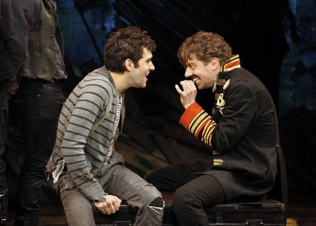 Adam Chanler-Berat and Christian Borle in Peter and the Starcatcher.