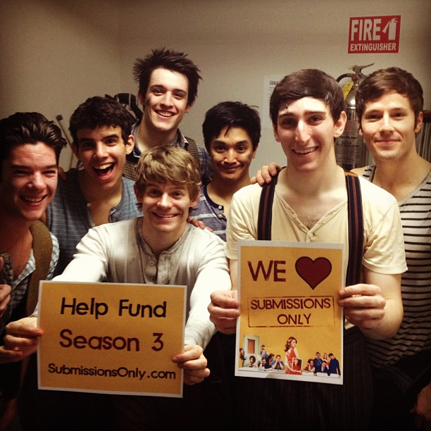 AKB with some of the Newsies promoting the Submissions Only campaign through SIP.