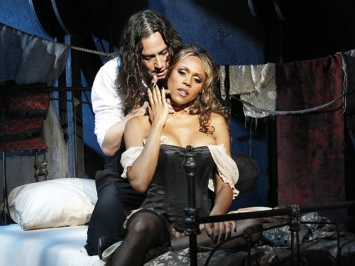 Constantine Maroulis and Deborah Cox in Jekyll and Hyde.