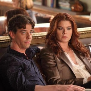 Christian Borle as Tom and Debra Messing as Julia in Smash.