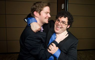 Rory O'Malley and Josh Gad