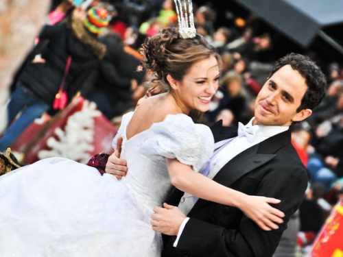Laura Osnes and Santino Fontana play Cinderella and Prince Topher.