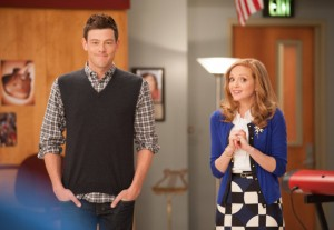 Finn and Emma share a surprising moment in this week's episode of Glee.