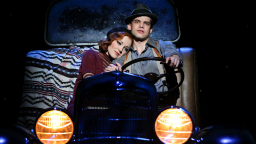 Laura Osnes and Jeremy Jordan in Bonnie and Clyde.