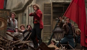 Aaron Tveit stars as Enjolras in the film adaptation of Les Miserables.