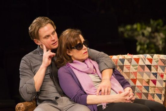 Billy Magnussen and Sigourney Weaver in Vanya and Sonia and Masha and Spike at Lincoln Center.