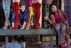 Stark Sands and Billy Porter in Kinky Boots.
