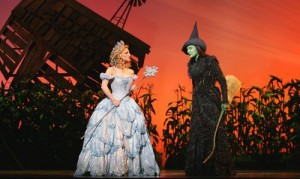Annaleigh Ashford as Glinda and Dee Roscioli as Elphaba
