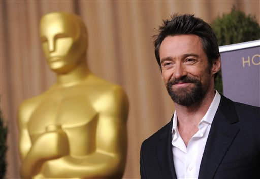 Hugh Jackman at the 2013 Academy Awards Nominee Luncheon