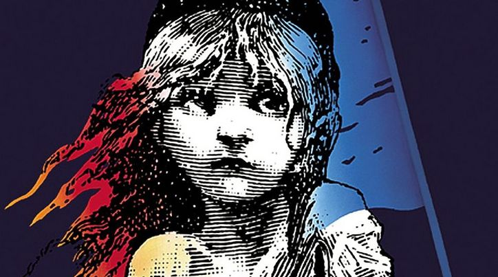 Young Cosette on the iconic 'Les Mis' poster