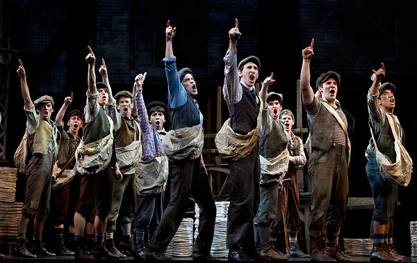 The original cast of 'Newsies'