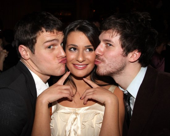 Jonathan Groff, Lea Michele, John Gallagher Jr.
