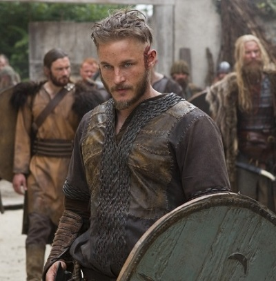 Travis Fimmel as Ragnar Lothbrok.