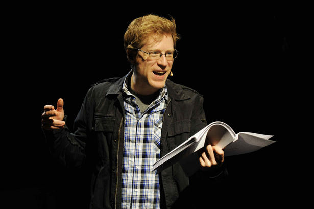 "Anthony Rapp reading from ""Without You."""