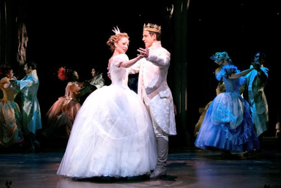 Laura Osnes and Santino Fontana in Cinderella.