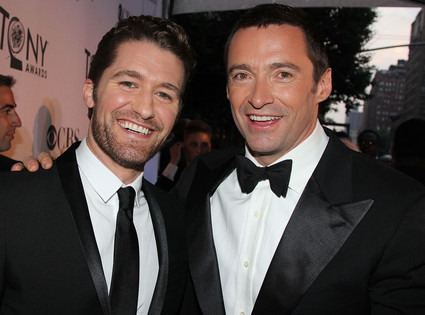 Matthew Morrison and Hugh Jackman.