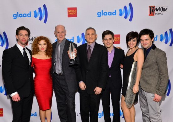 Members of the cast of Smash at the GLAAD Awards.
