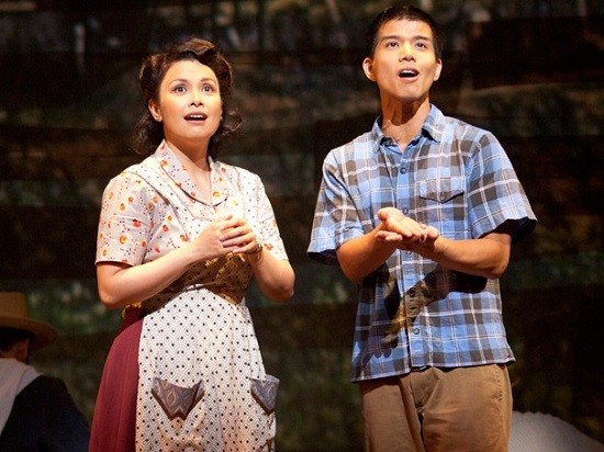 "Lea Salonga and Telly Leung in ""Allegiance."""