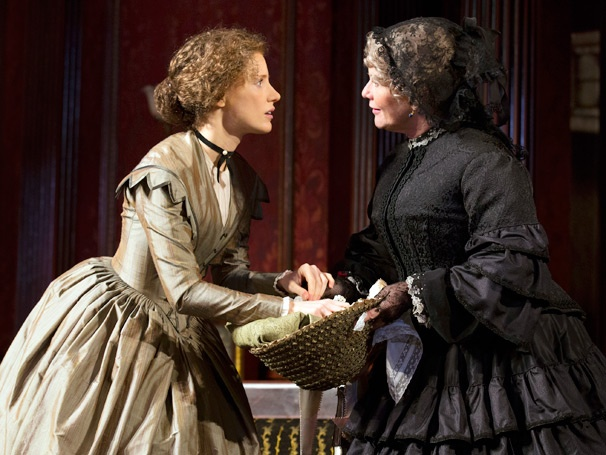 Judith Ivey and Jessica Chastain in 'The Heiress.'