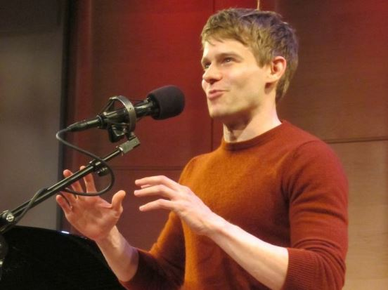 "Andrew Keenan-Bolger sings ""Top of the World"" from ""Tuck Everlasting"" at Broadway Unlocked. Photo credit: StageDoorDish.com."