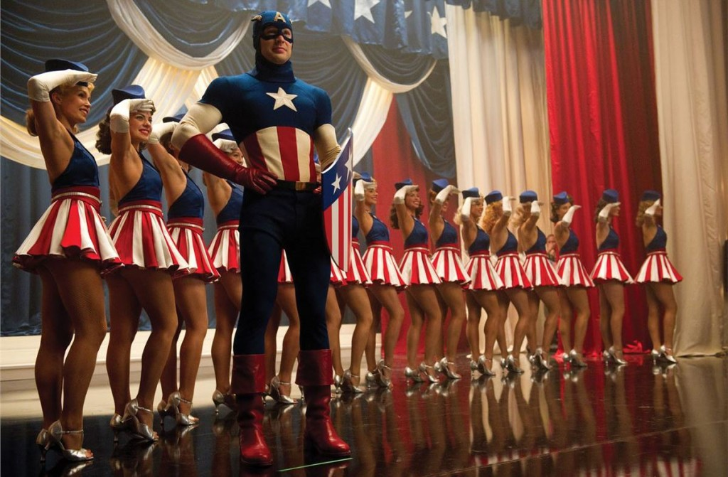 A scene from the 2011 Captain America movie