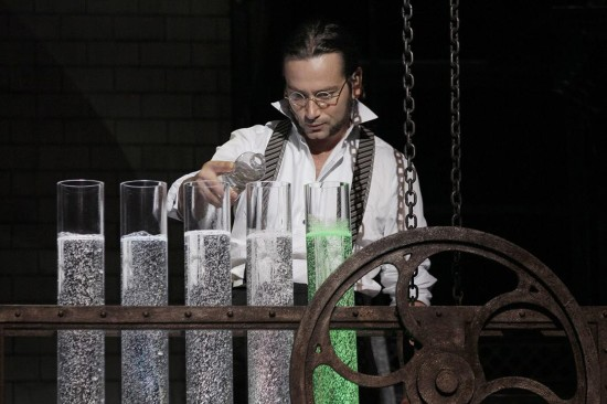Constantine Maroulis as Dr. Jekyll in his laboratory.