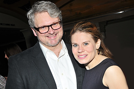 John Ellison Conlee with his wife Celia Keenan-Bolger.