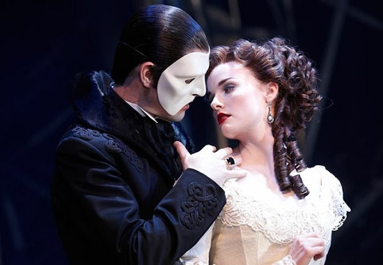 "Anna O'Byrne and Ben Lewis in ""Love Never Dies."""