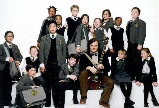 "The film cast of ""School of Rock."""