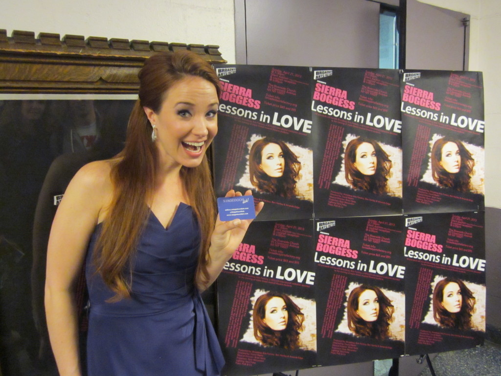 Sierra Boggess at 'Lessons in Love'