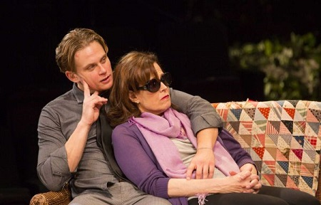 "Billy Magnussen as Spike in ""Vanya and Sonia and Masha and Spike."""
