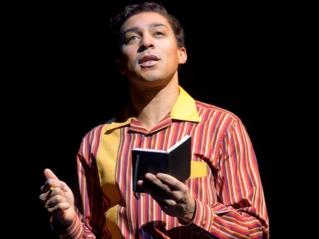 "Charl Brown as Smokey Robinson in ""Motown: The Musical."""