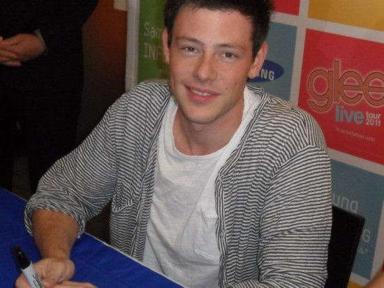 Cory Monteith. Photo credit: StageDoorDish.com.