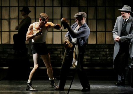 "Danny Burstein (right) as Tokio in ""Golden Boy."""