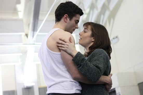 """Rebecca Trehearne and Stewart Clarke in rehearsals for """"Ghost."""""""