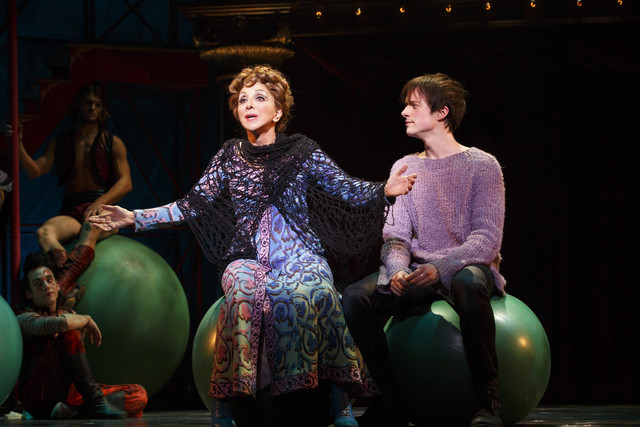 Andrea Martin and Matthew James Thomas in 'Pippin.'