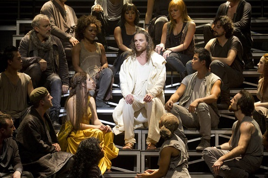 "Paul Nolan and Chilina Kennedy in ""Jesus Christ Superstar."""