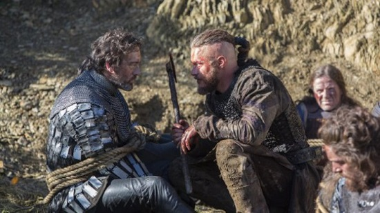 "Lord Eadric and Ragnar Lothbrok in ""A King's Ransom."""