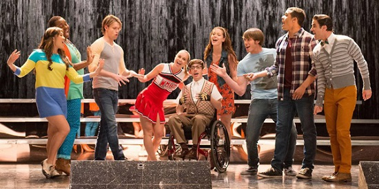 """The glee club performs unplugged in """"Lights Out."""""""