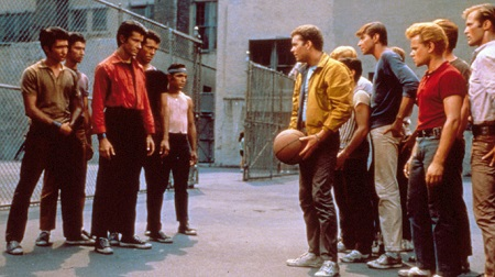 "The Jets and the Sharks from ""West Side Story."""
