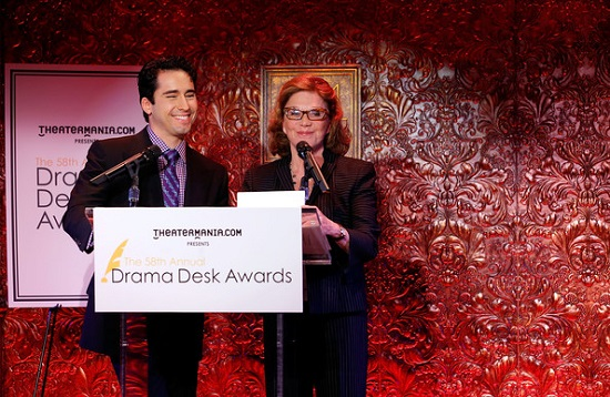 John Lloyd Young and Linda Lavin announce the nominees for the 2013 Drama Desk Awards.