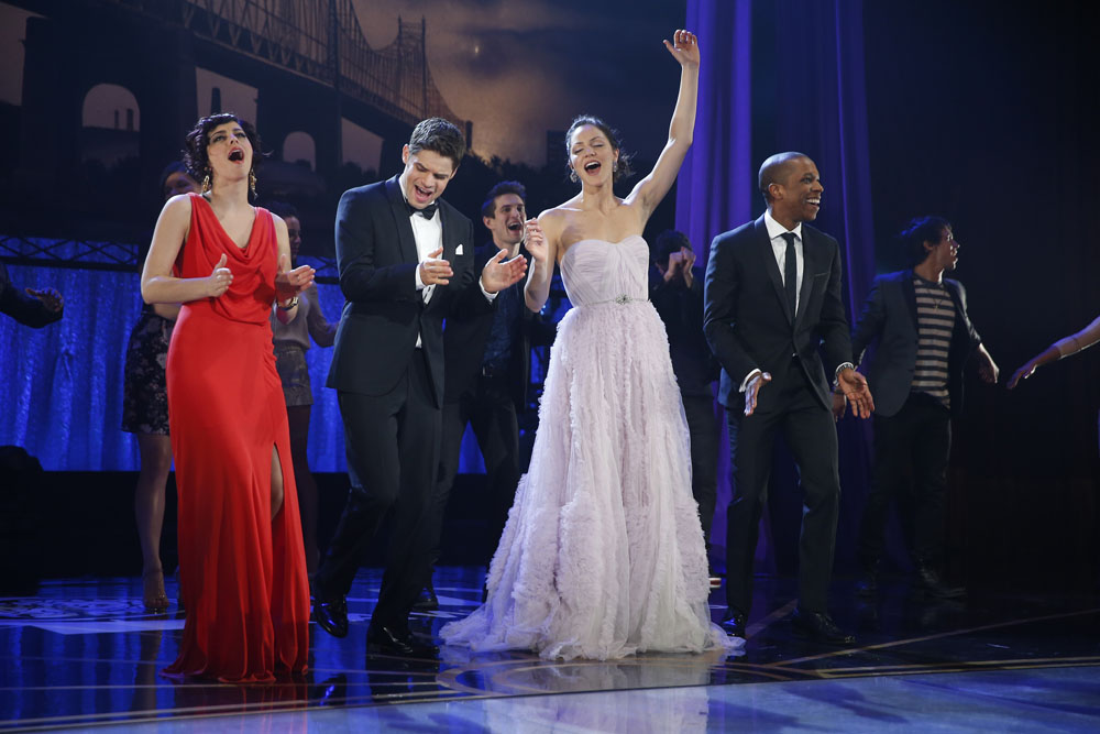 The cast of 'Hit List' performs at the Tony Awards.