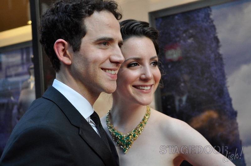 Santino Fontana, nominated for Best Leading Actor in a Musical, with his girlfriend Jessica Hershberg.