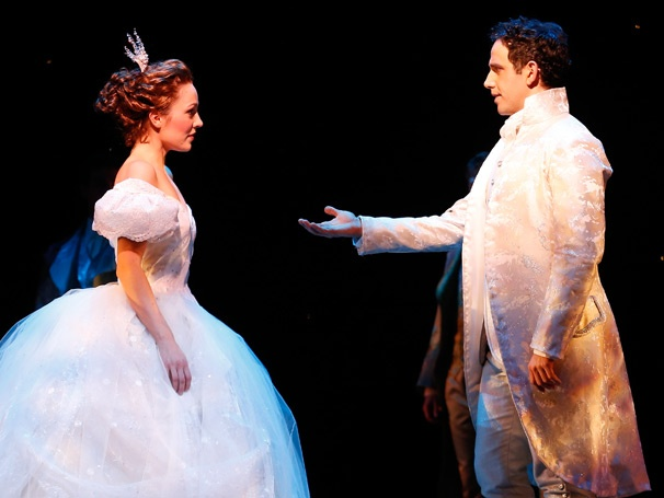 "Laura Osnes with Santino Fontana in ""Cinderella"""