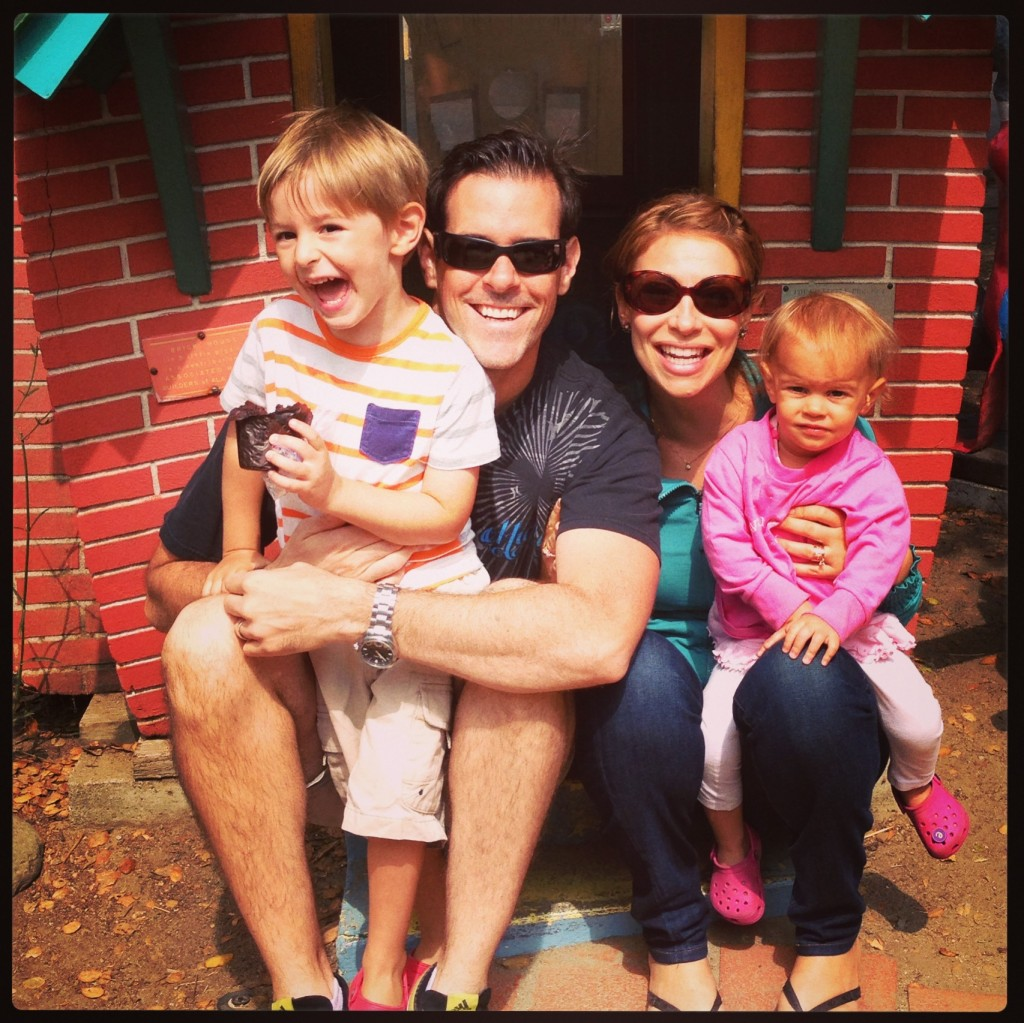 Jeremy Stolle with his family