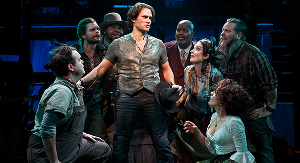 Greg Hildreth, bottom left, and the company of The Robber Bridegroom.