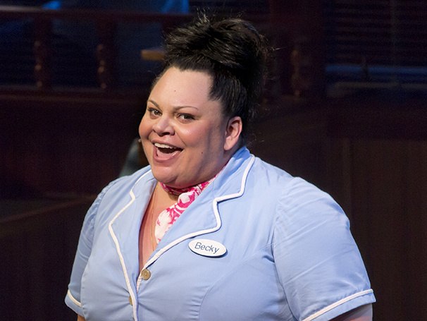 "Keala Settle as Becky in ""Waitress."""