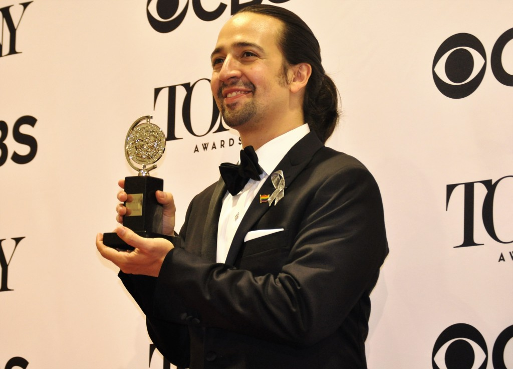 Lin-Manuel Miranda was the night's biggest winner with his smash-hit musical Hamilton walking away with 11 Tony Awards.